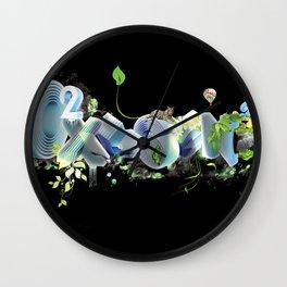 Oxygen CO2 Wall Clock