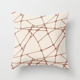 Cavern Clay SW 7701 Abstract Mosaic Pattern 1 on Creamy Off White SW7012 Throw Pillow