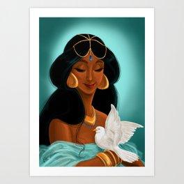 Her royal highness, the Sultana Jasmine Art Print