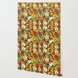 Vintage Fruit Pattern V Wallpaper