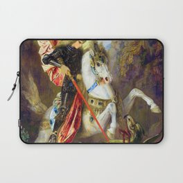12,000pixel-500dpi - Gustave Moreau - Saint George And The Dragon - Digital Remastered Edition Laptop Sleeve