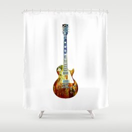 Sounds of music. Guitar. Shower Curtain