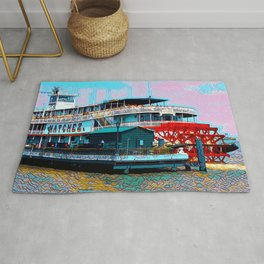 Natchez Riverboat New Orleans Rug