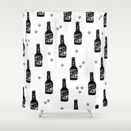 There's always hope beer bottle hop love monochrome Shower Curtain
