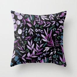 Eucalyptus Violet Throw Pillow