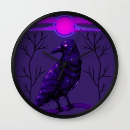 Rise of the Raven Wall Clock