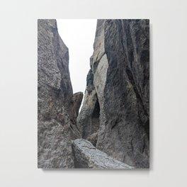 in between rocks - nature observation Metal Print