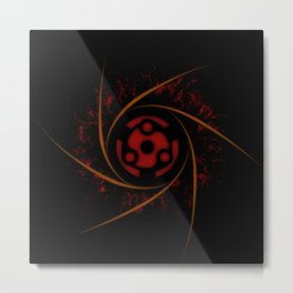 SHARINGAN TELEPORT Metal Print