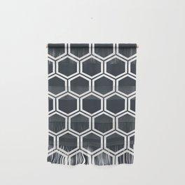 Hexagon Black Wall Hanging