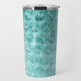 Aqua Bubble Wrap Travel Mug