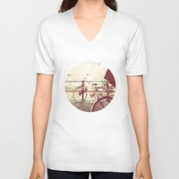 amsterdam V-neck T-shirts featuring Amsterdam by GF Fine Art Photography