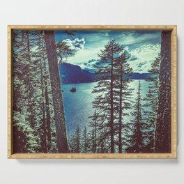 Crater Lake Vintage Summer Serving Tray