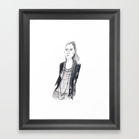 Fashion waif Framed Art Print