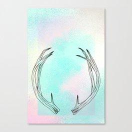 Pastel Antlers Canvas Print