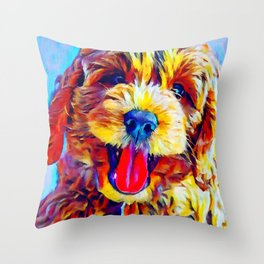 Goldendoodle 2 Throw Pillow