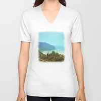 chile V-neck T-shirts featuring Al sur de Chile II by Viviana Gonzalez