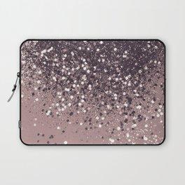 Sparkling Mauve Lady Glitter #3 #shiny #decor #art #society6 Laptop Sleeve
