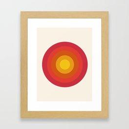 Right On - retro throwback 70s 1970s bullseye beach 70's vibes minimal art by Seventy Eight Framed Art Print