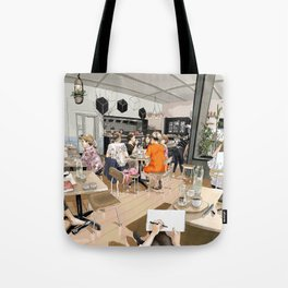 Coracle Cafe Tote Bag