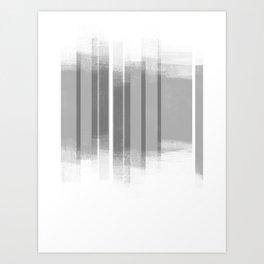 Grey Retro Style Geometric Abstract - Codex Art Print