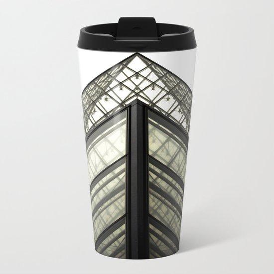 Abstract Louvre Metal Travel Mug