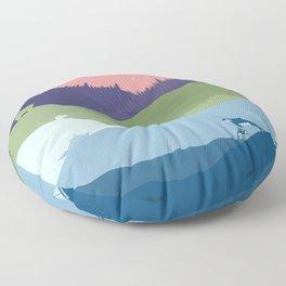 Vancouver Landscape Floor Pillow