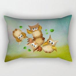 Owl crash Rectangular Pillow