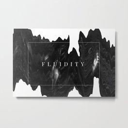 Fluidity Metal Print