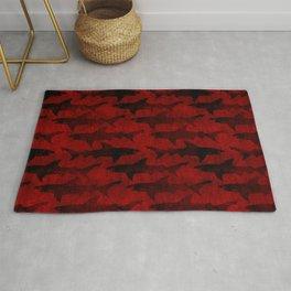 Blood Red Sharks Rug