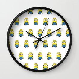 Minion Pattern Wall Clock