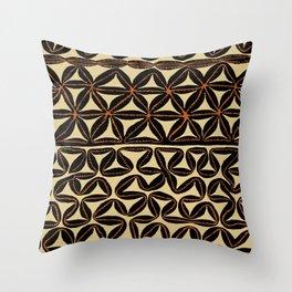 South Seas Tribal Tapa Throw Pillow