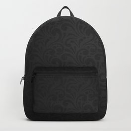 Luxury Black Floral Backpack