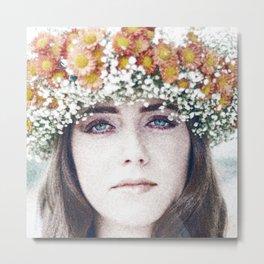 Face flower Metal Print