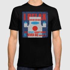 Robots Never Die MEDIUM Black Mens Fitted Tee