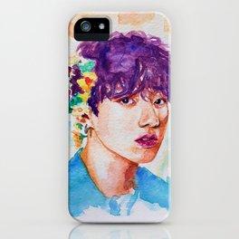 Jungkook et les fleurs iPhone Case