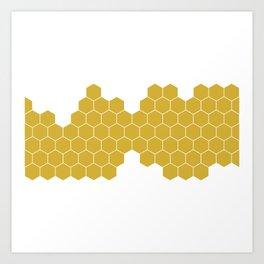 Honeycomb White Art Print