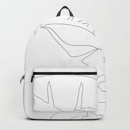 Minimal Line Art Banana Leaves Backpack