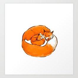 Foxes Art Print