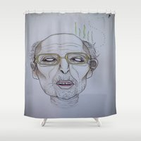 """the godfather Shower Curtains featuring """"He swims with the fishes"""" -The Godfather by LUCID CREATOR"""