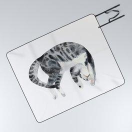 Yoga cat Picnic Blanket