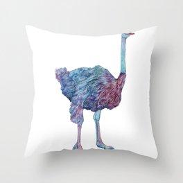 Ostrichard Throw Pillow