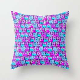 cats in owl 592 Throw Pillow