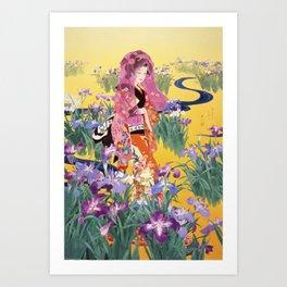 Syoubu by Haruyo Morita Art Print