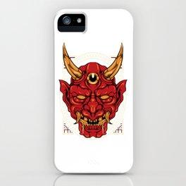 Japanese Demon Art Mask Devil Oni Harajuku T-Shirt iPhone Case