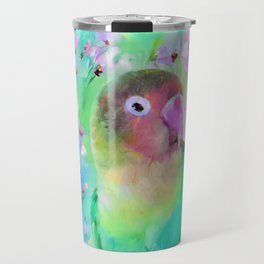 Conure in the Cosmos Travel Mug