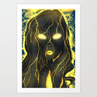 with her eyes open Art Print