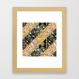 Crazy Patchwork Triangles Framed Art Print