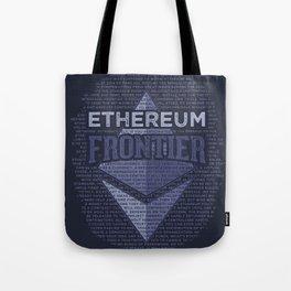 Ethereum Frontier Grunge original on dark blue Tote Bag