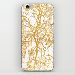 MEDELLÍN COLOMBIA CITY STREET MAP ART iPhone Skin