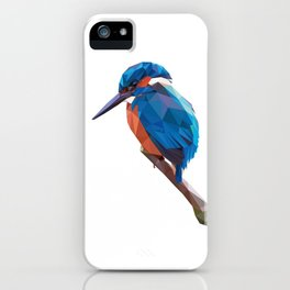 Kingfisher - Low poly digital art iPhone Case